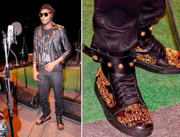 2face-chaussures-or 1