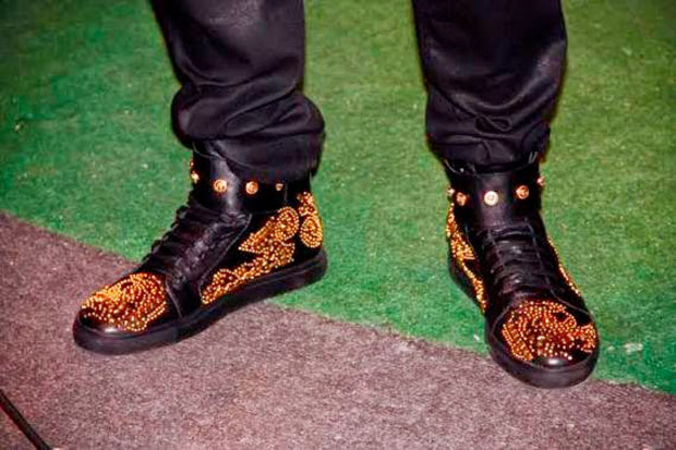 2face-chaussures-or 2