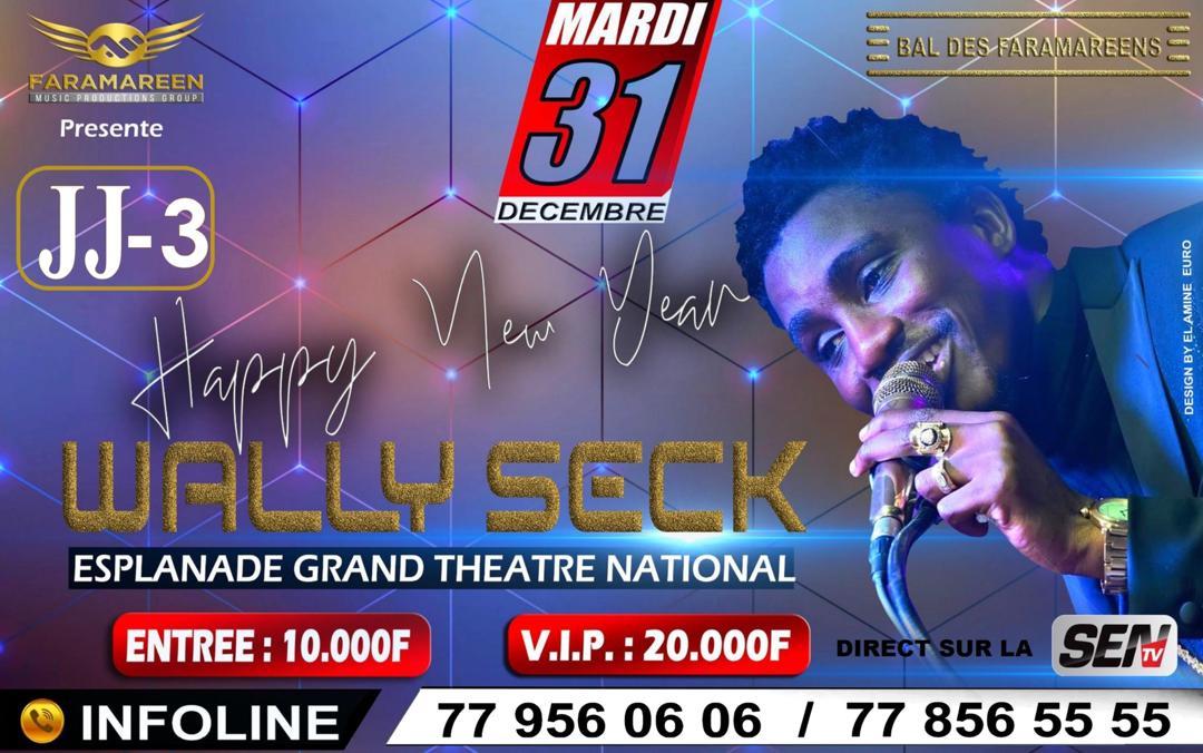 Wally Seck à l'esplanade du Grande Théâtre National le 31 décembre 2019 !