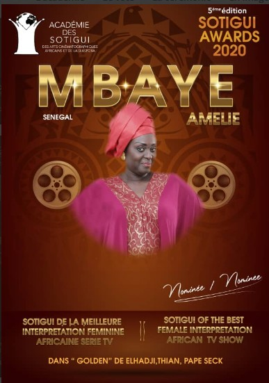 Actrice Amelie Mbaye alias mage